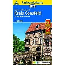 Radwanderkarte BVA Radregion Münsterland Kreis Coesfeld 1:50.000, reiß- und wetterfest, GPS-Tracks Download: Mit 100 Schlösser Route (Radwanderkarte 1:50.000)