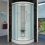 AcquaVapore DTP10-1001 Dusche Duschtempel Duschkabine Fertigdusche 90x90, EasyClean Versiegelung:JA mit 2K Scheiben Versiegelung