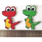 parches niños parches para ropa parches termoadhesivos Parches bordados infantiles un conjunto de2 piezas dinosaurio 7cm