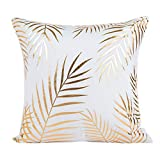 Kavitoz Kissenbezug Gold Folie Polyester Druck Kissen Fall 45cmX45cm Sofa