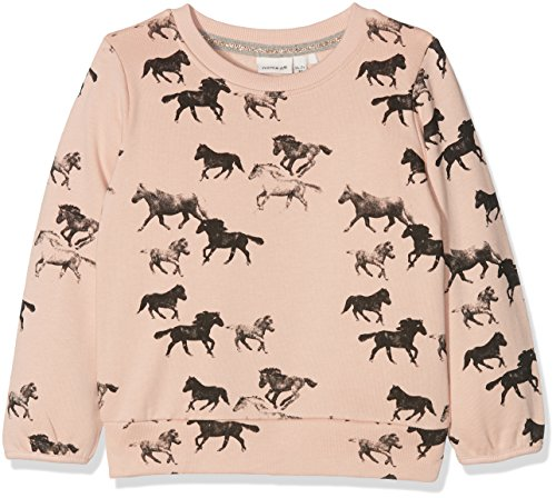 NAME IT Baby-Mädchen Sweatshirt Nitditan LS Swe Top Bru F Mini, Mehrfarbig (Evening Sand), 104 (Sweatshirt Kinder Baby)