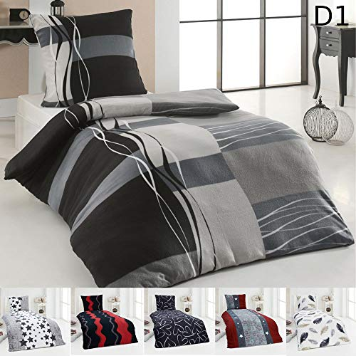 Dreamhome24 Warme Winter Microfaser Thermo Fleece Bettwäsche 135×200 155×220 Bettbezug Modern