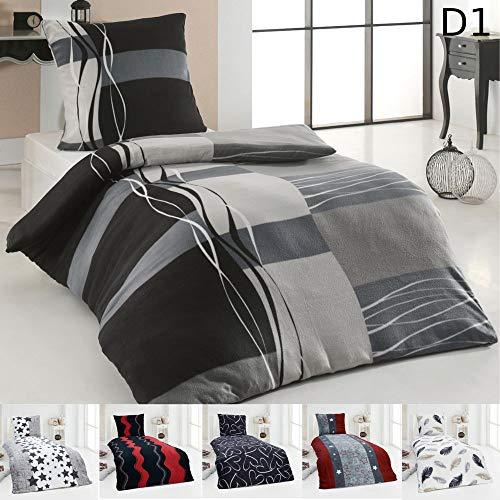 Dreamhome24 Warme Winter Microfaser Thermo Fleece Bettwäsche 135×200 155×220 Bettbezug Modern