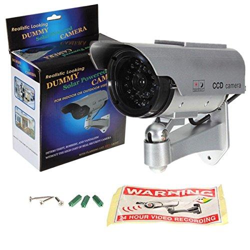 Phot-R® 2X Solar Powered Dummy IR LED Security Surveillance Camera Cam I with. Surveillance Security Cam