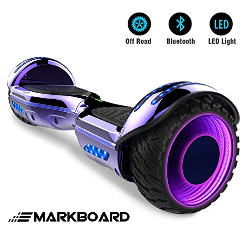 "Markboard Elektro Scooter Hoverboard LED 6,5\"" E-Balance E-Skateboard Elektroroller 700W Motor Bluetooth (LED LILA)"