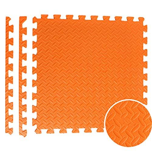 JIAJUAN-Puzzlematte Baby Quadrat Kinder Ineinandergreifend Verdicken Schaum Matten Weich rutschfest Oberfläche Fußboden Fliesen  Abspielen Matte (Color : Orange, Size : 60x60x2.5 cm-9 pcs) (8 Fliese Quadrat X 8)