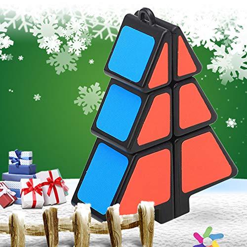 TAOtTAO Weihnachtsbaum Dekompressionsspielzeug Zauberwürfel 1X2X3 Weihnachtsbaumwürfel Puzzle Ultra-Smooth Magic Puzzle Weihnachtsgeschenke ()