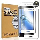 [2 Pezzi] Owbb Bianco Vetro Temperato Pellicola Per Huawei Nova Smart Full Coverage Protettiva Protezione 9H Durezza 99% Alta Trasparente