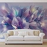 Blumen Natur Lila - Wallsticker Warehouse - Fototapete - Tapete - Fotomural - Mural Wandbild - (765WM) - XXL - 368cm x 254cm - Papier (KEIN VLIES) - 4 Pieces