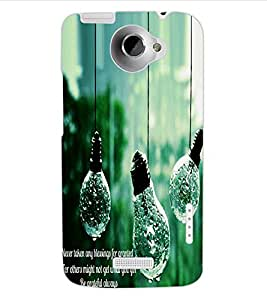 ColourCraft Creative Image Bulbs Design Back Case Cover for HTC ONE X