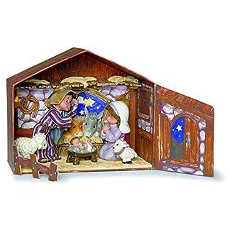 Nadal Figura Decorativa el Portal de belén, Resina, Multicolor, 19.30×9.90×16.80 cm