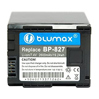 Blumax Li-Ion Ersatzakku für Canon BP-827 (7,4 V, 2400 mAh) (B003VU5W4A) | Amazon price tracker / tracking, Amazon price history charts, Amazon price watches, Amazon price drop alerts