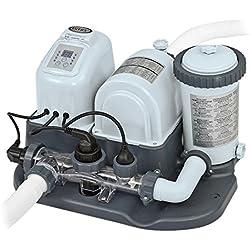 Intex - Combo depuradora cartucho y cloración salina eco, 26.500 l, 220-240 V, 3,974L/hr