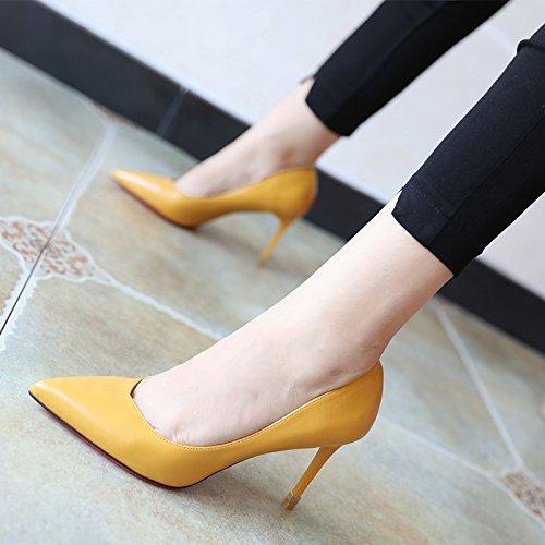 FLYRCX Primavera e autunno fashion semplici scarpe di lavoro singola calzatura B