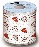 Toilettenpapier Herzen Liebe Heirat Geschenkidee 3-lagig in Geschenkverpackung Scherzartikel