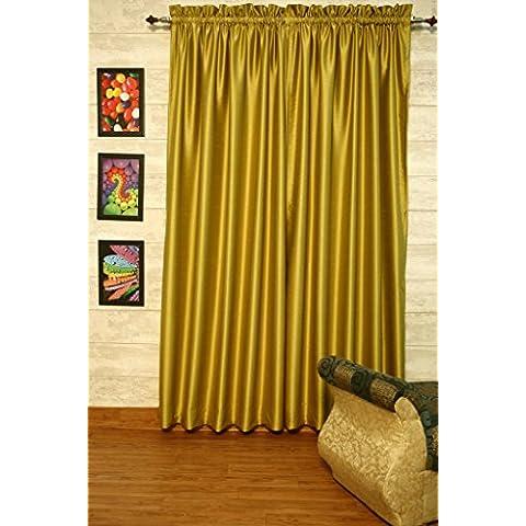 golden-olive cortinas satén de seda Dupioni sintética, elección de piezas, anchura y longitud elección con forros opacos por zappycart., 78