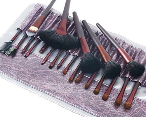 RoseFlower® Professionnel 21 Pcs Pinceaux Maquillage Trousse - Pro Make Up Cosmétique Brosse / Brushes Kit Pour Visage Blending Fondation Blush Eyeliner Poudre