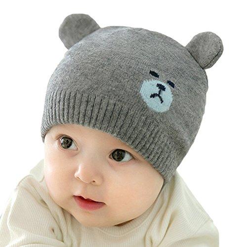 Juleya cappello del beanie del bambino - berretto cappello invernale a maglia bambini infantili del bambino cappello del crochet per 0-5 anni ragazzi e ragazze