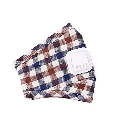 XuBa Atemschutzmaske für den Winter, Karomuster plaid (Plaid-karomuster)