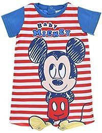 e72d9829cd84 Barboteuse bébé garçon Disney Mickey Rayé Bleu ...