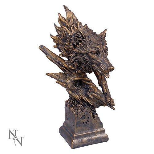 Nemesis Now–Große Wolf Büste Figur–40cm (Büste Wolf)