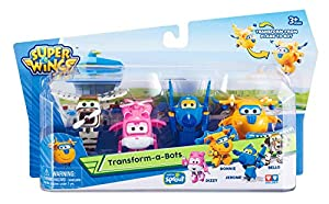 Alpha Animation & Toys Super Wings Transform-a-Bots 4pk vehículo de Juguete - Vehículos de Juguete (Multicolor, 4 año(s), 9 año(s), Niño/niña, Interior, 60 mm)
