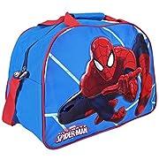 Borsa sportiva bambino Marvel Spiderman - Borsone sport per palestra viaggio e tempo libero con stampa Uomo ragno - Azzurro - 40x29x20 cm - Perletti