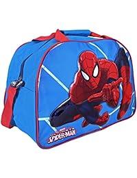 Disney 13210 Sporttasche Jungen Marvel Spiderman, Blau und Rot, Perletti, 40x29x20 cm