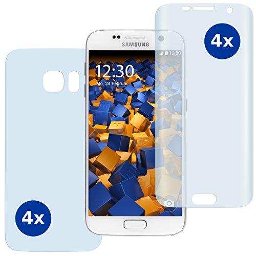 8 x mumbi PreForm Schutzfolie für Samsung Galaxy S7 (vorgeformter PET Displayschutz passgenau für das gebogene Display)