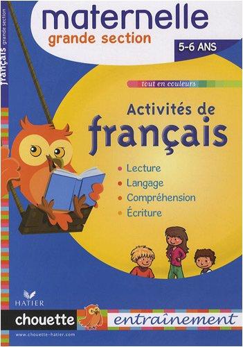 Activités de français Grande section : 5/6 ans