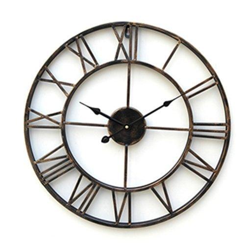 Ouku Classic Grande horloge murale en métal de 50,80 cm Style moderne, 3D [Classe énergétique A]