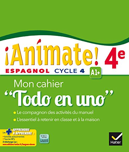 Animate Espagnol 4e Todo en uno éd. 2016 - Cahier d'activités