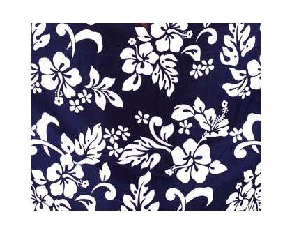 Funky Hawaii Sarong | Pareo Cover-Up | Einheitsgröße | Herren | Hibiskus Blumen Blätter | Multiple Farben Blau