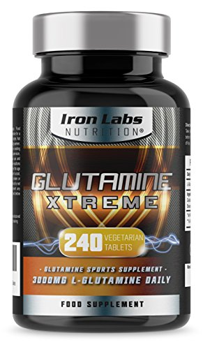 Glutamine Xtreme | L-Glutamine 500mg x 240 Tablets | Highest Quality GLUTAMINE – Sports Supplement | 240 Vegetarian Tablets Manufacturer: Iron Labs Nutrition