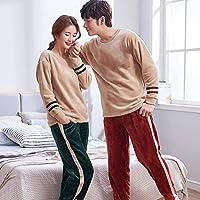 YTNGA Pijamas De Mujer Conjuntos de Invierno para Mujer Pijamas para hombresTraje de casa Ropa de Dormir, Hombres, XL