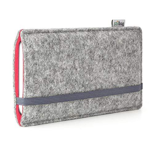 stilbag Etui Feutre 'FINN' pour Sony Xperia M4 Aqua - Couleur: Gris/Saumon