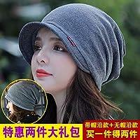OWAXHWD Sombreros de Mujer Sombrero Moda para Mujer Sombrero Baotou Sombrero  de otoño e Invierno Gorro Lunar de Doble Capa Gorro para Turbante de Doble  Uso ... 851eeef8b5c