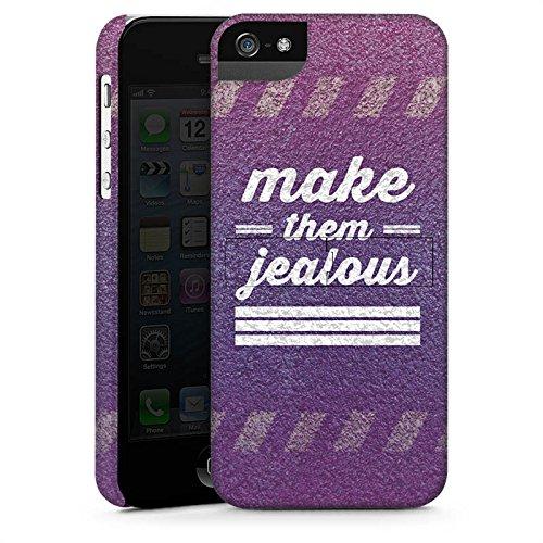 Apple iPhone X Silikon Hülle Case Schutzhülle Jealous Lila Motivation Premium Case StandUp