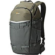 Lowepro Flipside Trek BP 450 AW - Mochila para cámara con apertura en la espalda, gris / verde oscuro