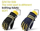 Arcweg Skihandschuhe für Kinder & Erwachsene Klettverschluss Basic Blau M 9-14Jahre/Höhe130-140cm