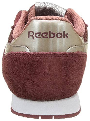 Reebok Royal Ultra Sl, Scarpe basse Donna Rosso (Rugged Maroon/sleek Metallic/grey Sandy Rose/white)
