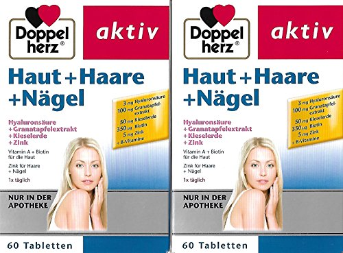 Doppelherz Haut + Haare + Nägel Tabletten 2-Pack (2x60 stk) Eclipse Haut