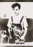 Póster Charlie Chaplin Charlot Tiempos Modernos Grafiti Hecho A Mano - Handmade Street Art - Artwork