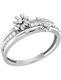 LOLLS Solid 10K Gold 0.15 CT Natural Diamond I1 HI Round Designer Wedding Band Ring [LOLLS_GUR1245_10K]