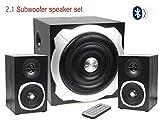 Vetrineinrete® Subwoofer 2.1 bluetooth karaoke set 3 casse altoparlanti audio amplificate speaker ingresso sd e usb per pc smartphone tv SS005 A25