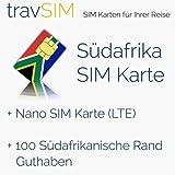 SIM Karte für Südafrika - Nano SIM mit Guthaben- 100 ZAR südafrikanische Rand Guthaben- süd-afrikanische prepaid SIM Karte