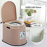 SCZLSYL Antideslizante móvil inodoro ancianos embarazadas móvil inodoro pacientes engrosamiento inodoro , brown