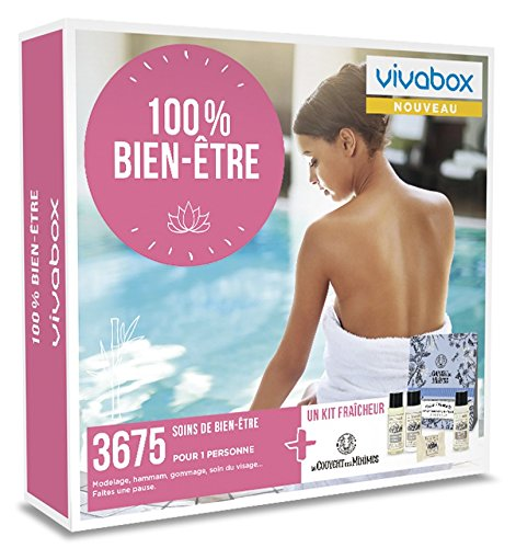 Vivabox - Coffret cadeau femme - 100% BIEN-ÊTRE - 3675 soins : massage, gommage... +...