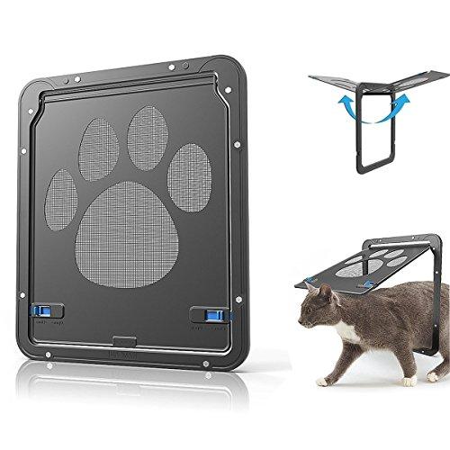 ABZON Pet Bildschirm Tür, Stabile Hund Tür Katze Fenster, magnetisch Automatische Verriegelung, Perfekte Geschenk für Haustiere und Tierliebhaber. - Pet-tür-fenster