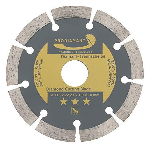 PRODIAMANT Diamant-Trennscheibe 115 x 22,2 mm - Beton, Stein, Ziegel, universal